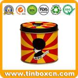Круглая коробка олова с качеством еды, жестяной коробкой металла
