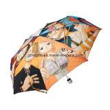 Складывая зонтик, сделанный из полиэфира, таможня все виды цвета