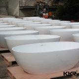 Corian feste ovale Oberflächenform-freie stehende Badewanne