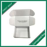 Caixa de empacotamento branca com a venda por atacado da impressão do logotipo