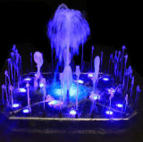 De mooie Kleurrijke fontein van het Water van de Tuin van de Muziek Openlucht Dansende