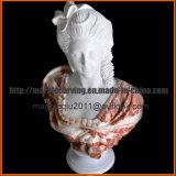 Femmina con il busto Mbt1705 del marmo del cappello
