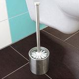 Ванная комната, туалет из нержавеющей стали с держателем щетки стекло вставить Ca 36 см в высоту