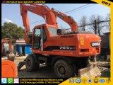 Excavador usado 210W-7, excavador usado 210-7 de la rueda de Doosan