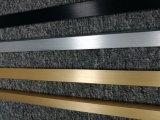 Satin 6063 personnalisé anodisé dans argenté/noir/or/profil en aluminium en laiton d'extrusion