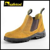 بقرة [سود] جلد أمان حذاء مع فولاذ إصبع قدم