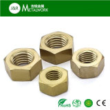 Noix Hex plaque en fer blanc DIN934 d'hexagone en laiton