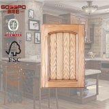 Porta de gabinete de cozinha moderna de madeira lacada branca (GSP5-005)