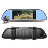 3G Car DVR Android 5.0 Bluetooth GPS FM Transmisor de doble lente de la cámara del espejo retrovisor