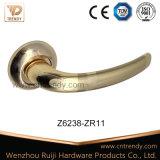 금 색깔 장식판 (AL224-zr11)에 알루미늄 문 레버 손잡이