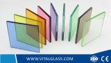 Стекло ясных/голубых/серых/бронзы прокатанное как стекло здания с Csi (L-M)