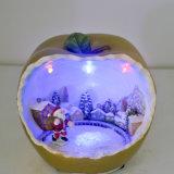 Maçãs de resina Multi-Color LED Leight para decoração de mesa de Natal