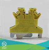 PE verde/amarelo do bloco terminal Jut1-1.5 da braçadeira da gaiola