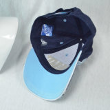 Cotone blu di modo del cappello su ordinazione di Sun che corre berretto da baseball