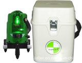 Лазер зеленого цвета уровня лазера Danpon с 3 лучами и многоточиями веска