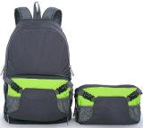 Pliage double étanche à l'épaule voyageant sac à dos Sac de sport, à la taille