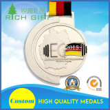 Medaglia della concorrenza con colore della bandierina e dell'argento di paese