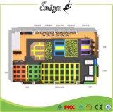 Equipamento de diversão Trampolim interior grande com basquete, piscina de bolas, espuma, Dodgeball Arena