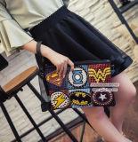Borse di cuoio all'ingrosso della borsa di scontro di colore dei sacchetti di frizione del distintivo delle signore dell'unità di elaborazione della Cina con Sy8120 fissato