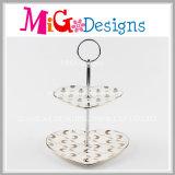 Двойной уровень подставку для торта свадебные печати керамические пластины