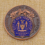 Personalize Metal Nypd 60 Pct Sqd Coin for Collection