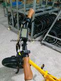 Gros pneu de 20 pouces pliant le croiseur électrique de plage de bicyclette avec le détecteur de toque