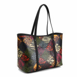 Lady artística Multi-Pattern Spliced ​​Rhomboid Shoulder Bag (MBNO040118)