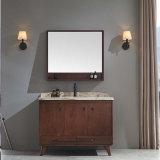Cabinet de toilette de salle de bain miroir en bois massif classique (GSP14-022)