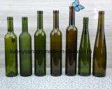 frasco de vinho de primeira qualidade do vermelho do vidro 500ml verde