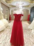 Красное отбортовывая платье вечера лифа для венчания