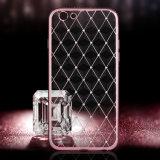 La red de electrochapado Shinny el caso de TPU para el iPhone 6