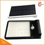 500 lúmenes de luz LED de Energía Solar Sensor de movimiento PIR Lámpara Solar lámpara de pared exterior jardín de luz solar