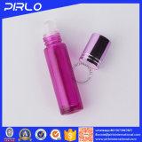rodillo de cristal del color rosado 10ml en la botella de petróleo esencial de la botella de perfume