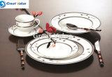 Jantar de porcelana cerâmica grossista da placa a placa de jantar restaurante, Golden Hotel Jantar de exposição
