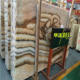 Prezzo della lastra del marmo di Onyx di Britannico della decorazione interna della qualità superiore per la casa
