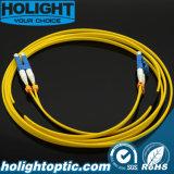 Cuerda de corrección de la fibra LC al duplex 2.0m m del LC con el cargador del programa inicial corto