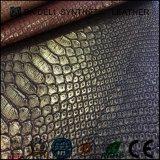 Couro artificial artificial de PVC / PU para sofá / estofamento de móveis, saco de couro