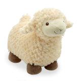 Le cadeau mou bourré bleu de peluche de qualité badine le jouet de moutons