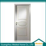 Ferrada branca personalizada do painel de madeira maciça Porta de ranhuras em V para projectos