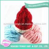 Chapéu de feltro feito malha colorido por atacado de lãs do Crochet da forma