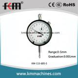A tecnologia mmx0.0010-5mm Mícron Indicador com 0,001mm graduação