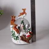 Глобус снежка 2017 изготовленный на заказ оленей рождества смолаы с нот