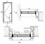 Qualitäts-Feuer-Nennglastür-feuerfeste Tür