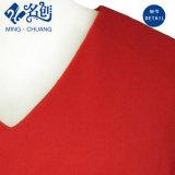 Nuevo Rojo Long-Sleeve Rear-Zipper suelto con cuello en V Señoras sexy blusa