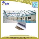 Cadena de producción hueco de la hoja del material para techos de los PP de la PC plástica/del estirador del panel