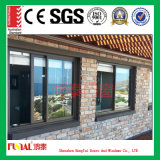 Ventana de aluminio modificada para requisitos particulares del vidrio Tempered del color con el SGS