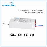 17W 34~42V corrente constante fonte de alimentação LED de intensidade regulável