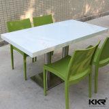 Retângulo branco mármore Artificial Superfície sólida mesa de jantar 170224