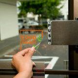 L'elettricità statica trasparente su ordinazione della finestra di automobile del rifornimento aderisce autoadesivo senza adesivo