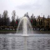 Fontana di galleggiamento dell'acciaio inossidabile della decorazione del lago